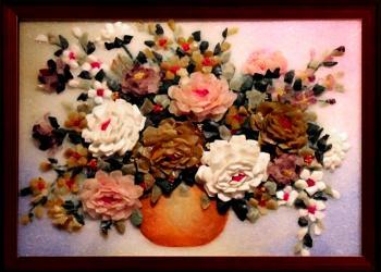 Tranh bát hoa hồng đa sắc