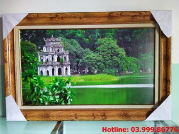 Tranh Canvas Hồ Hoàn Kiếm 1