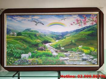 Tranh Canvas Làng quê 1