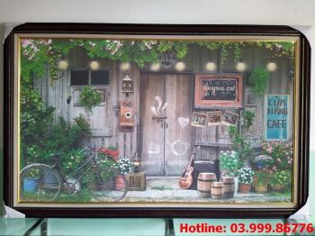 Tranh Canvas Cafe 1