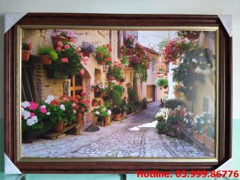 Tranh Canvas phố hoa 2