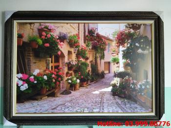 Tranh Canvas phố hoa 1
