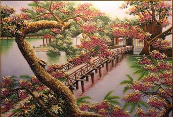 Tranh đá quý phong cảnh Việt Nam (95x105)