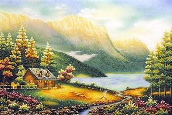 Bức tranh đá quý Thung Lũng Thần Tiên