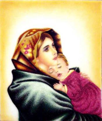Bức tranh đá quý Đức Mẹ