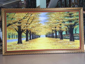 Rừng cây lá vàng 100x150cm