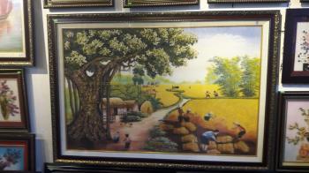 Tranh đá quý mùa bội thu (75x105cm)