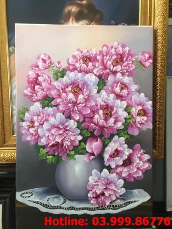17 Tranh Hoa kích thước tranh vẽ theo đề nghị khách hàng