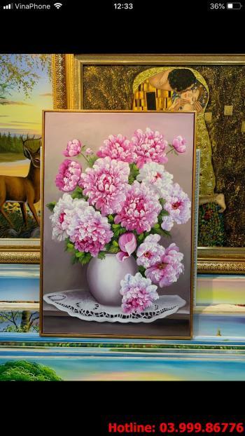 16 Tranh Hoa kích thước tranh vẽ theo đề nghị khách hàng