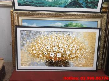 15 Tranh Hoa kích thước tranh vẽ theo đề nghị khách hàng