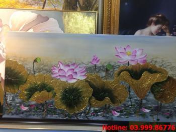14 Tranh Hoa kích thước tranh vẽ theo đề nghị khách hàng
