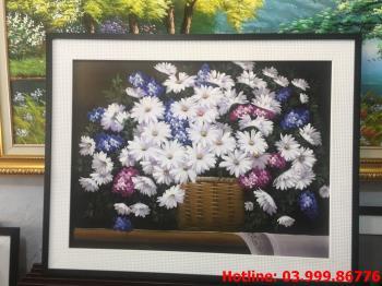 13 Tranh Hoa kích thước tranh vẽ theo đề nghị khách hàng