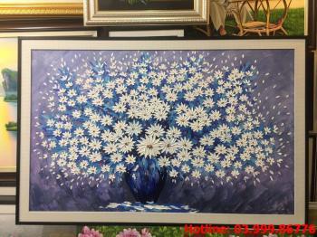 11 Tranh Hoa kích thước tranh vẽ theo đề nghị khách hàng
