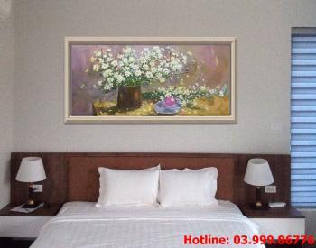9 Tranh Hoa kích thước tranh vẽ theo đề nghị khách hàng