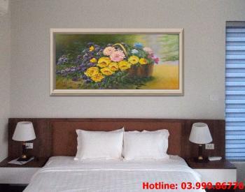 5 Tranh Hoa kích thước tranh vẽ theo đề nghị khách hàng