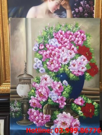 4 Tranh Hoa kích thước tranh vẽ theo đề nghị khách hàng