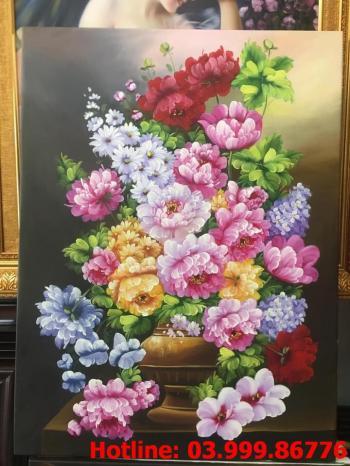 3 Tranh Hoa kích thước tranh vẽ theo đề nghị khách hàng