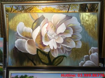 2 Tranh Hoa kích thước tranh vẽ theo đề nghị khách hàng