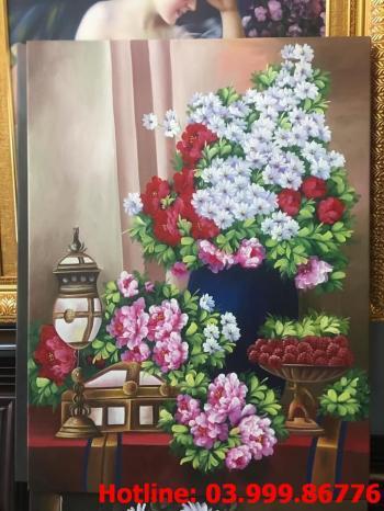 1 Tranh Hoa kích thước tranh vẽ theo đề nghị khách hàng